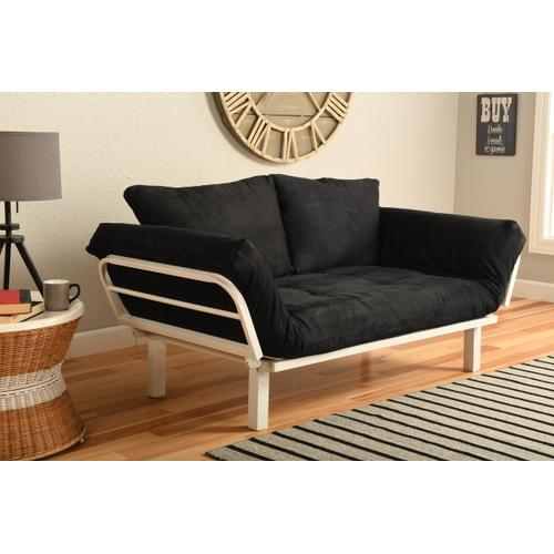 Mattress Discount Southgate - White Spacely Lounger Suede Black