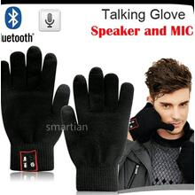 BLACK  GLOVES  HANDS FREE BLUE TOOTH