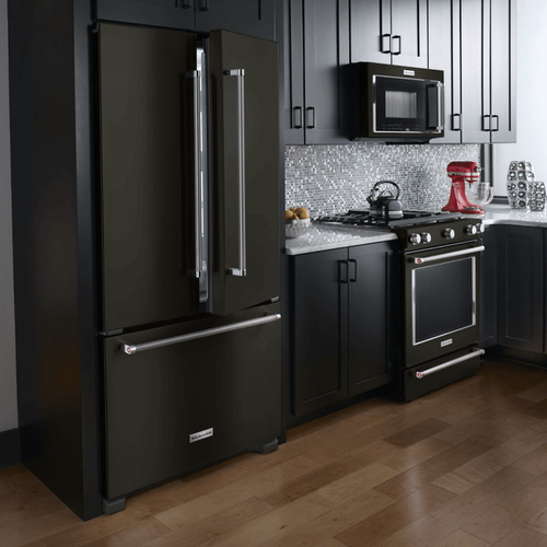 KitchenAid 4-piece Black Stainless Appliance Package With Gas Slide-In Range