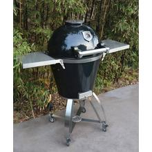 """See Details - 22"""" Caliber Pro Kamado Grill/Smoker (Powdercoated Black with Stainless Steel Handle)"""