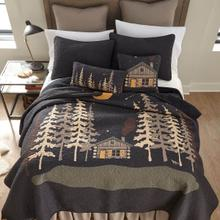 Moonlit Cabin King Quilt Set