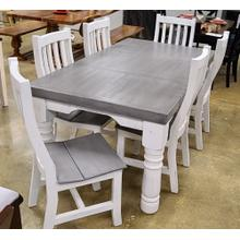 See Details - JET-MES/LEG/SIL  Table and 6 Chairs