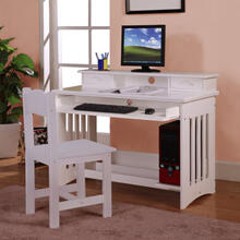 White Student Desk/Hutch