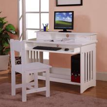 See Details - White Student Desk/Hutch