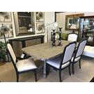 Corsica Collection 8 piece Dining set Table, 6 Chairs and Credenza Product Image