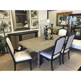 Corsica Collection 8 piece Dining set Table, 6 Chairs and Credenza