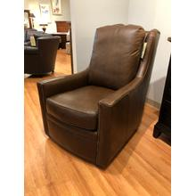See Details - Top Grain Leather Swivel Chair