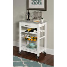 Kitchen Island White w/ Granite Top