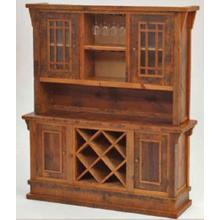 Stony Brooke Entry Way Style Hutch With Wine Rack and Wine Glass Holder