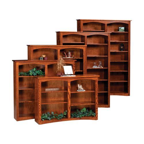 Ashery Oak - Shaker Open Bookcase