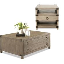 Riverside Myra 2 Piece Set: Cocktail Table & End Table