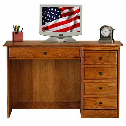 """Oak 30"""" Single Pedestal Desk"""
