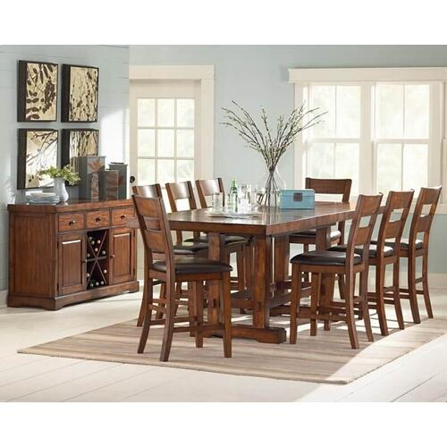Packages - Zappa Counter Height Table with 8 Chairs