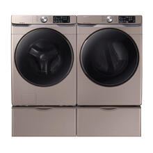 SAMSUNG Front Load  4.5 cu. ft. Washer & 7.5 cu. ft. Smart Electric Dryer in Champagne- Open Box