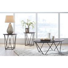 T384-13  Cocktal and 2 End Tables