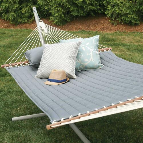 Large Quilted Hammock - Canvas Charcoal