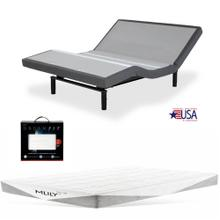 Leggett & Platt S-Cape 2.0 Adjustable Bed, MLily Fusion 1000 Hybrid Mattress, and set of Dreamfit Sheets