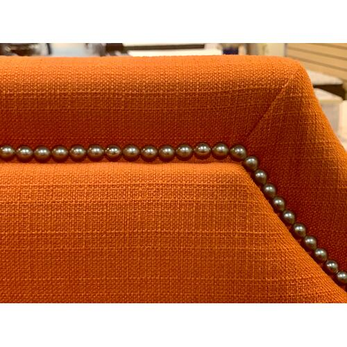 Bassett Furniture - Custom Uph Beds Florence Clipped Corner Queen Headboard-Floor Sample