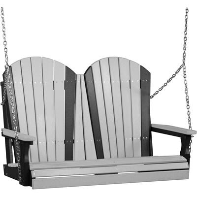Adirondack Swing 4' Dove Gray and Black