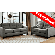 Charcoal Sofa and Loveseta SET
