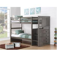 View Product - BELVIDEAR - Twin/Twin w/Staircase Chest - Gray