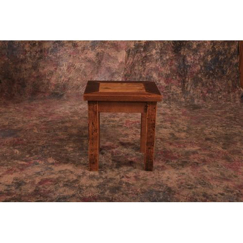 Cozy Creations Collection - Reclaimed Barnwood End Table
