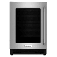 Kitchenaid 5.1CF Stainless Steel Undercounter Refrigerator with Glass Door