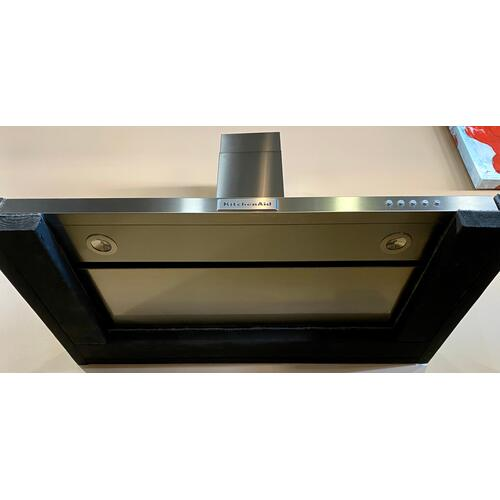 KitchenAid - KitchenAid KVWB406DSS  36'' Wall-Mount, 3-Speed Canopy Hood - Stainless Steel