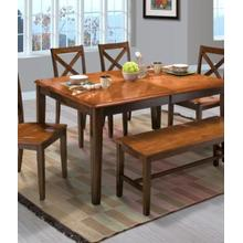 Latitudes Ginger Dining Table and 6 Chairs