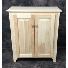 Maine Made Small Hall Cupboard 29W X 34H X 12.5D Pine Unfinished