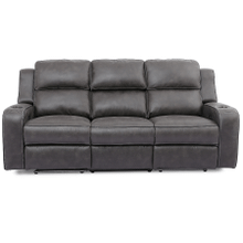 See Details - Luca Granite Power Sofa with Drop Down Table