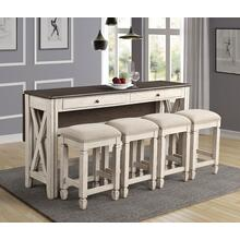 BERNARDS 5908-532 Waverly Table And 4 Stools
