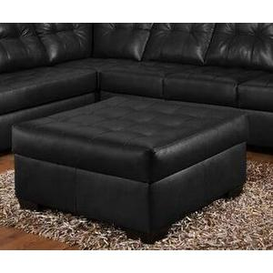 Simmons Upholstery - 9568 Onyx Large Cocktail Ottoman