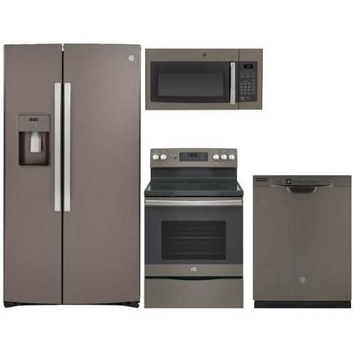 Packages - GE 4-Piece Slate Kitchen Suite