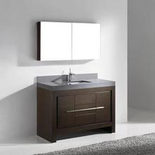 """Product Image - Vicenza 60"""" Single Bowl Vanity in Walnut"""