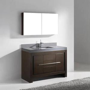 """Vicenza 60"""" Single Bowl Vanity in Walnut Product Image"""