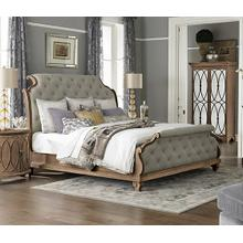 King Upholstered Tufted Bed