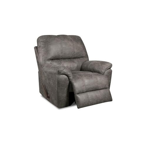 American Furniture Manufacturing - Rocker Recliner Gray Polyester