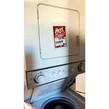 GE Unitized Spacemaker® Washer and Electric Dryer- STACK24E-U  SERIAL #6