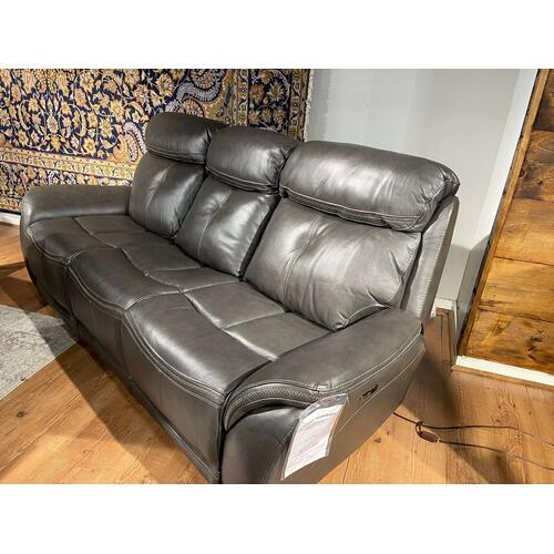 Tipton Steele Leather Full Power Reclining Sofa