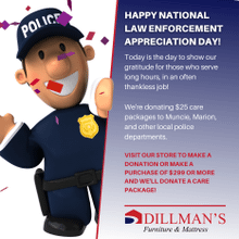 Product Image - Law Enforcement Appreciation Month at Dillman's Furniture.  Sponsor a bag for only $25!