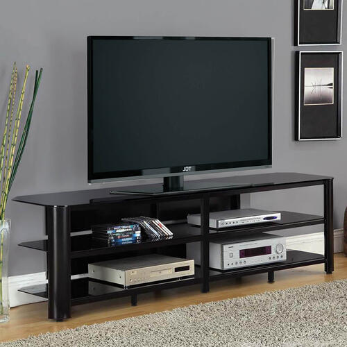 """See Details - Oxford 73"""" TV Stand - Black"""