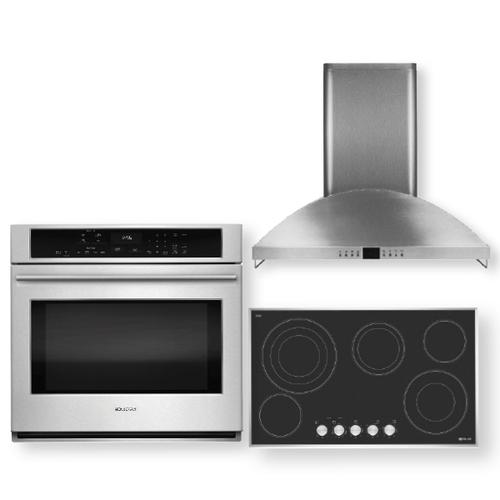 """Stainless Steel 30"""" Electric Single Wall Oven 3-Piece Package- Open Box"""