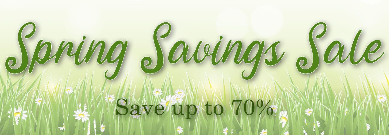 Spring Savings Sale
