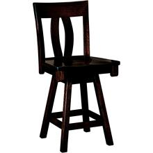 Brookfield Amish Custom Swivel Bar / Counter Stool