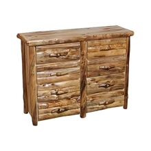 8 Drawer Dresser Log Front Wild Panel Natural Log