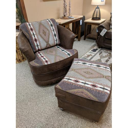 Best Craft Furniture - Swivel Glider Chair (Pick Your Fabric!)