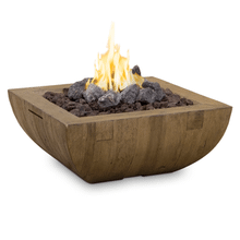 "Bordeaux Square 36"" Reclaimed Wood Fire Bowl"