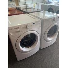 Refurbished White Electric Whirlpool Washer Dryer Set. Please call store if you would like additional pictures. This set carries our 6 month warranty, MANUFACTURER WARRANTY AND REBATES ARE NOT VALID (Sold only as a set)