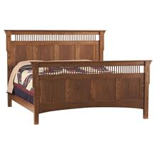 Mission Deluxe King Bed (Available in a Variety of Colors and Wood Stains)